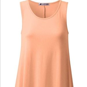 Peach mock neck tunic tank